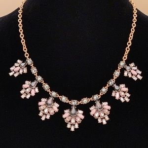 J Crew NWT Rhinestone Statement Necklace &Earrings